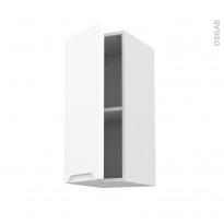 Meuble de cuisine - Haut ouvrant - PIMA Blanc - 1 porte - L30 x H70 x P37 cm