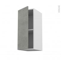 Meuble de cuisine - Haut ouvrant - FAKTO Béton - 1 porte - L30 x H70 x P37 cm