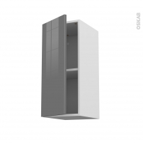 Meuble de cuisine - Haut ouvrant - STECIA Gris - 1 porte - L30 x H70 x P37 cm