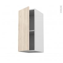 IKORO Chêne clair - Meuble haut ouvrant H70  - 1 porte - L30xH70xP37