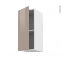 Meuble de cuisine - Haut ouvrant - KERIA Moka - 1 porte - L30 x H70 x P37 cm