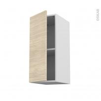 Meuble de cuisine - Haut ouvrant - STILO Noyer Blanchi - 1 porte - L30 x H70 x P37 cm