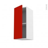 GINKO Rouge - Meuble haut ouvrant H70  - 1 porte - L30xH70xP37