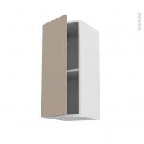 Meuble de cuisine - Haut ouvrant - GINKO Taupe - 1 porte - L30 x H70 x P37 cm