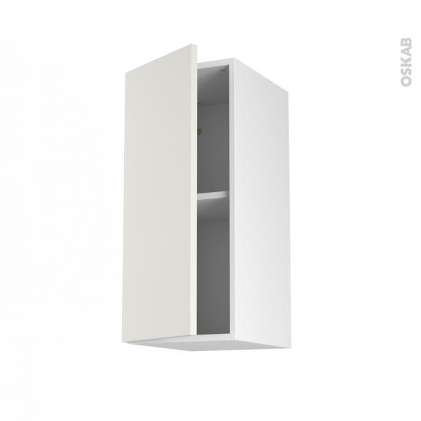 Meuble de cuisine - Haut ouvrant - GINKO Blanc - 1 porte - L30 x H70 x P37 cm