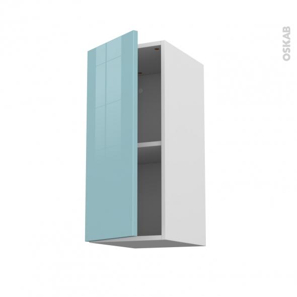KERIA Bleu - Meuble haut ouvrant H70  - 1 porte - L30xH70xP37