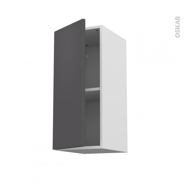 Meuble de cuisine - Haut ouvrant - GINKO Gris - 1 porte - L30 x H70 x P37 cm