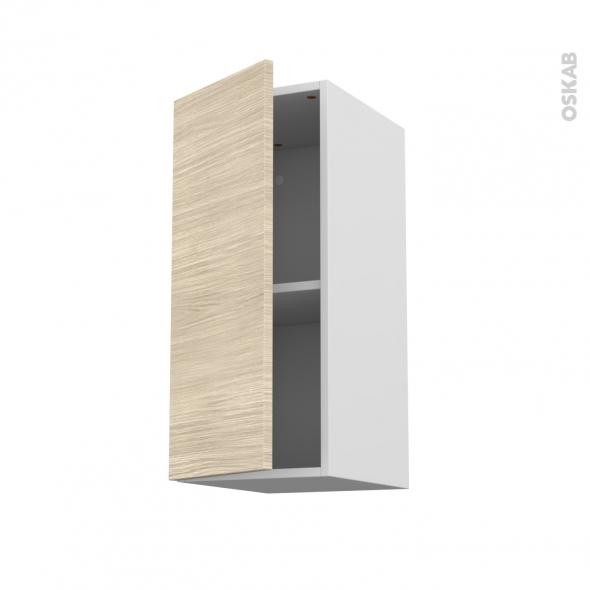 STILO Noyer Blanchi - Meuble haut ouvrant H70  - 1 porte - L30xH70xP37