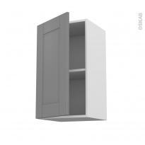 Meuble de cuisine - Haut ouvrant - FILIPEN Gris - 1 porte - L40 x H70 x P37 cm