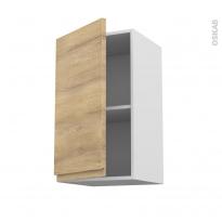 Meuble de cuisine - Haut ouvrant - IPOMA Chêne naturel - 1 porte - L40 x H70 x P37 cm