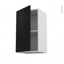 Meuble de cuisine - Haut ouvrant - GINKO Noir - 1 porte - L40 x H70 x P37 cm