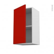 GINKO Rouge - Meuble haut ouvrant H70  - 1 porte - L40xH70xP37