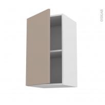 Meuble de cuisine - Haut ouvrant - GINKO Taupe - 1 porte - L40 x H70 x P37 cm
