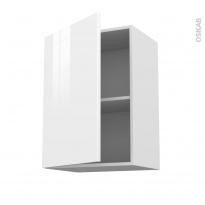Meuble de cuisine - Haut ouvrant - STECIA Blanc - 1 porte - L50 x H70 x P37 cm