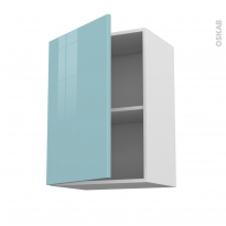 Meuble de cuisine - Haut ouvrant - KERIA Bleu - 1 porte - L50 x H70 x P37 cm