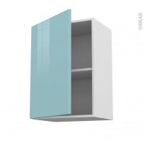 KERIA Bleu - Meuble haut ouvrant H70  - 1 porte - L50xH70xP37