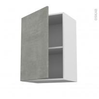 Meuble de cuisine - Haut ouvrant - FAKTO Béton - 1 porte - L50 x H70 x P37 cm
