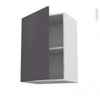 Meuble de cuisine - Haut ouvrant - GINKO Gris - 1 porte - L50 x H70 x P37 cm