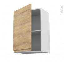 Meuble de cuisine - Haut ouvrant - IPOMA Chêne naturel - 1 porte - L50 x H70 x P37 cm