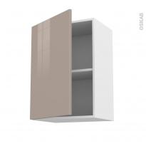 Meuble de cuisine - Haut ouvrant - KERIA Moka - 1 porte - L50 x H70 x P37 cm
