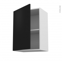 Meuble de cuisine - Haut ouvrant - GINKO Noir - 1 porte - L50 x H70 x P37 cm