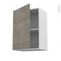 Meuble de cuisine - Haut ouvrant - STILO Noyer Naturel - 1 porte - L50 x H70 x P37 cm