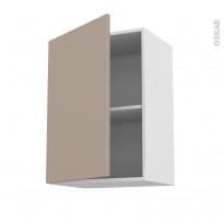 Meuble de cuisine - Haut ouvrant - GINKO Taupe - 1 porte - L50 x H70 x P37 cm