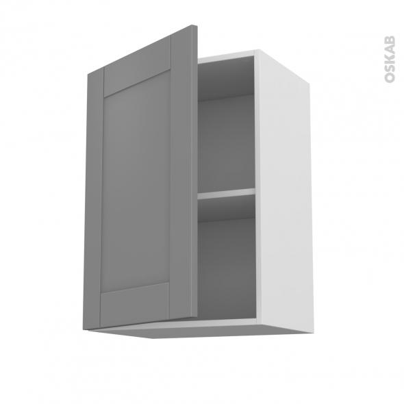 Meuble de cuisine - Haut ouvrant - FILIPEN Gris - 1 porte - L50 x H70 x P37 cm