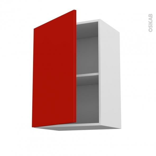 GINKO Rouge - Meuble haut ouvrant H70  - 1 porte - L50xH70xP37