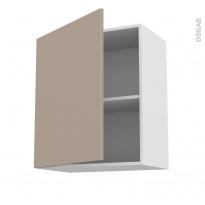 Meuble de cuisine - Haut ouvrant - GINKO Taupe - 1 porte - L60 x H70 x P37 cm