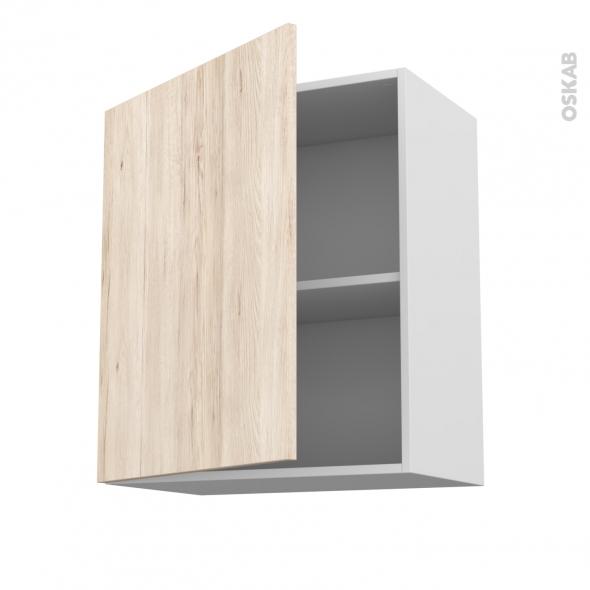 IKORO Chêne clair - Meuble haut ouvrant H70  - 1 porte - L60xH70xP37