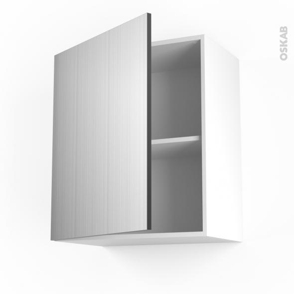 STILO Inox - Meuble haut ouvrant H70  - 1 porte - L60xH70xP37