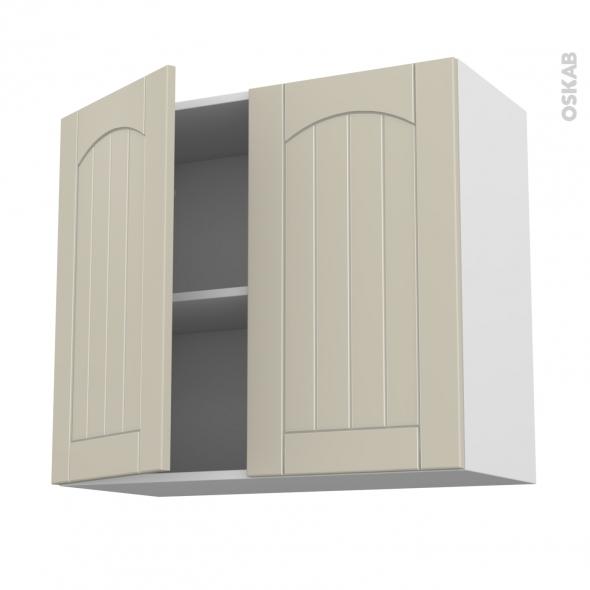 SILEN Argile - Meuble haut ouvrant H70  - 2 portes - L80xH70xP37