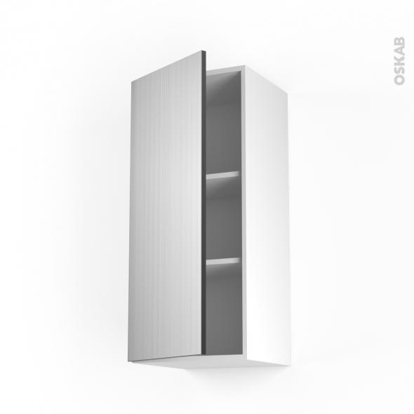 STILO Inox - Meuble haut ouvrant H92  - 1 porte - L40xH92xP37