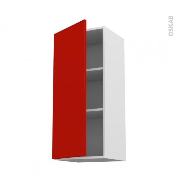 GINKO Rouge - Meuble haut ouvrant H92  - 1 porte - L40xH92xP37
