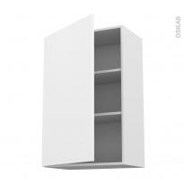 Meuble de cuisine - Haut ouvrant - GINKO Blanc - 1 porte - L60 x H92 x P37 cm