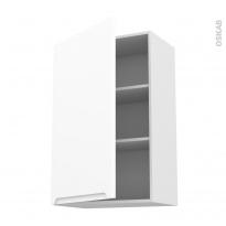 Meuble de cuisine - Haut ouvrant - PIMA Blanc - 1 porte - L60 x H92 x P37 cm