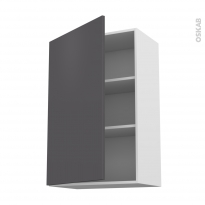 Meuble de cuisine - Haut ouvrant - GINKO Gris - 1 porte - L60 x H92 x P37 cm