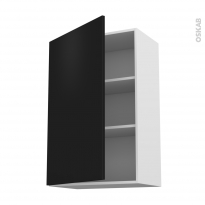 Meuble de cuisine - Haut ouvrant - GINKO Noir - 1 porte - L60 x H92 x P37 cm