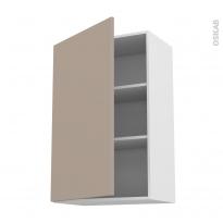 Meuble de cuisine - Haut ouvrant - GINKO Taupe - 1 porte - L60 x H92 x P37 cm