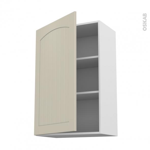 SILEN Argile - Meuble haut ouvrant H92  - 1 porte - L60xH92xP37 - gauche