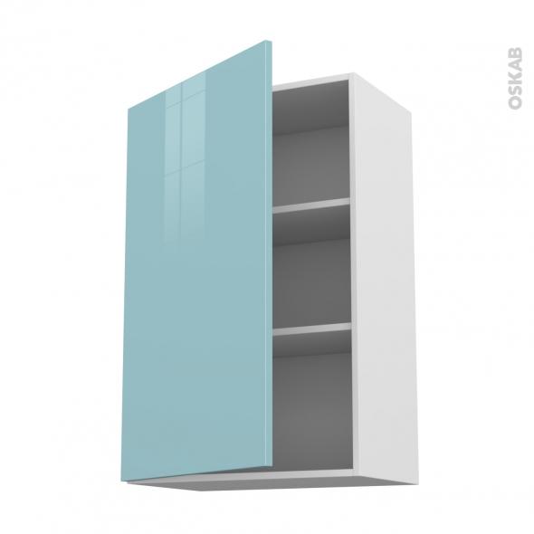KERIA Bleu - Meuble haut ouvrant H92  - 1 porte - L60xH92xP37