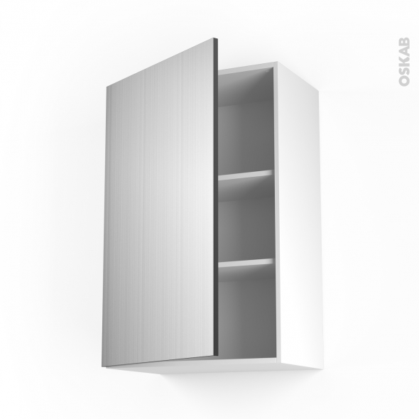 STILO Inox - Meuble haut ouvrant H92  - 1 porte - L60xH92xP37