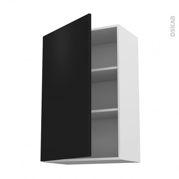 GINKO Noir - Meuble haut ouvrant H92  - 1 porte - L60xH92xP37