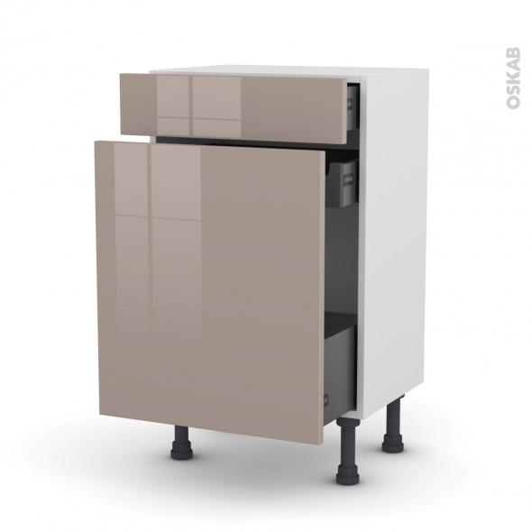 KERIA Moka - Meuble range épice - 3 tiroirs - L50xH70xP37