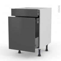 Meuble de cuisine - Range épice - GINKO Gris - 3 tiroirs - L50 x H70 x P58 cm