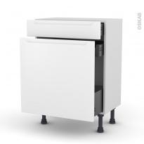 Meuble de cuisine - Range épice - PIMA Blanc - 3 tiroirs - L60 x H70 x P37 cm