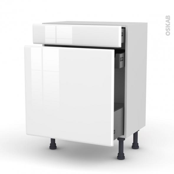 IRIS Blanc - Meuble range épice - 3 tiroirs - L60xH70xP37