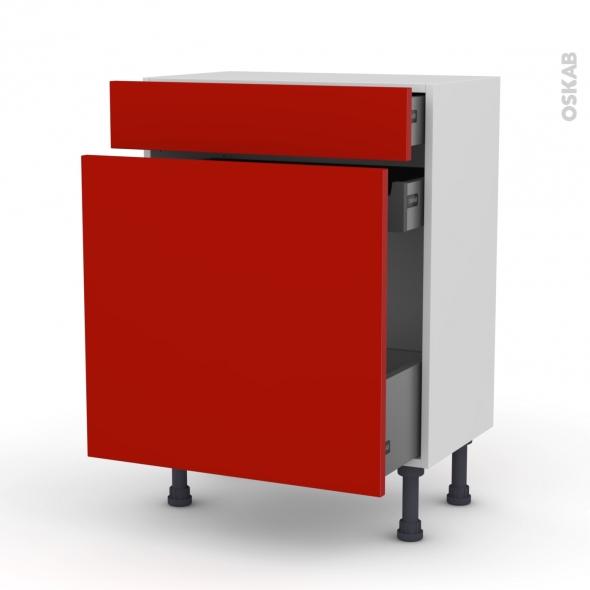 GINKO Rouge - Meuble range épice - 3 tiroirs - L60xH70xP37