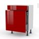 STECIA Rouge - Meuble range épice - 3 tiroirs - L60xH70xP37